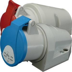 Ind.uticnica nadgradna 32A 5P 400V 3P+N+PE ETI CEE IP44