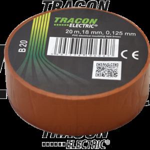 PVC izolir traka 20mX19mm braon