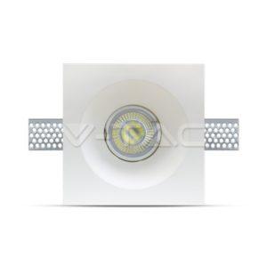 3641 _ Gipsana ugradna svetiljka za sijalicu tipa GU10, cetvrtasta, bela