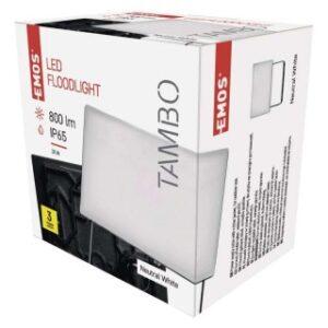LED REFLEKTOR EMOS TAMBO 10W NW ALUMINIJUM IP65 ZS2511