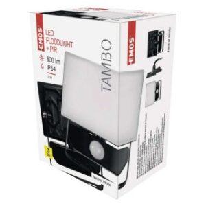 LED REFLEKTOR EMOS TAMBO 10W  SENZOR NW ALUMINIJUM IP54 ZS2911