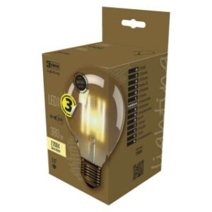 LED VNT G95 4W E27 WW+